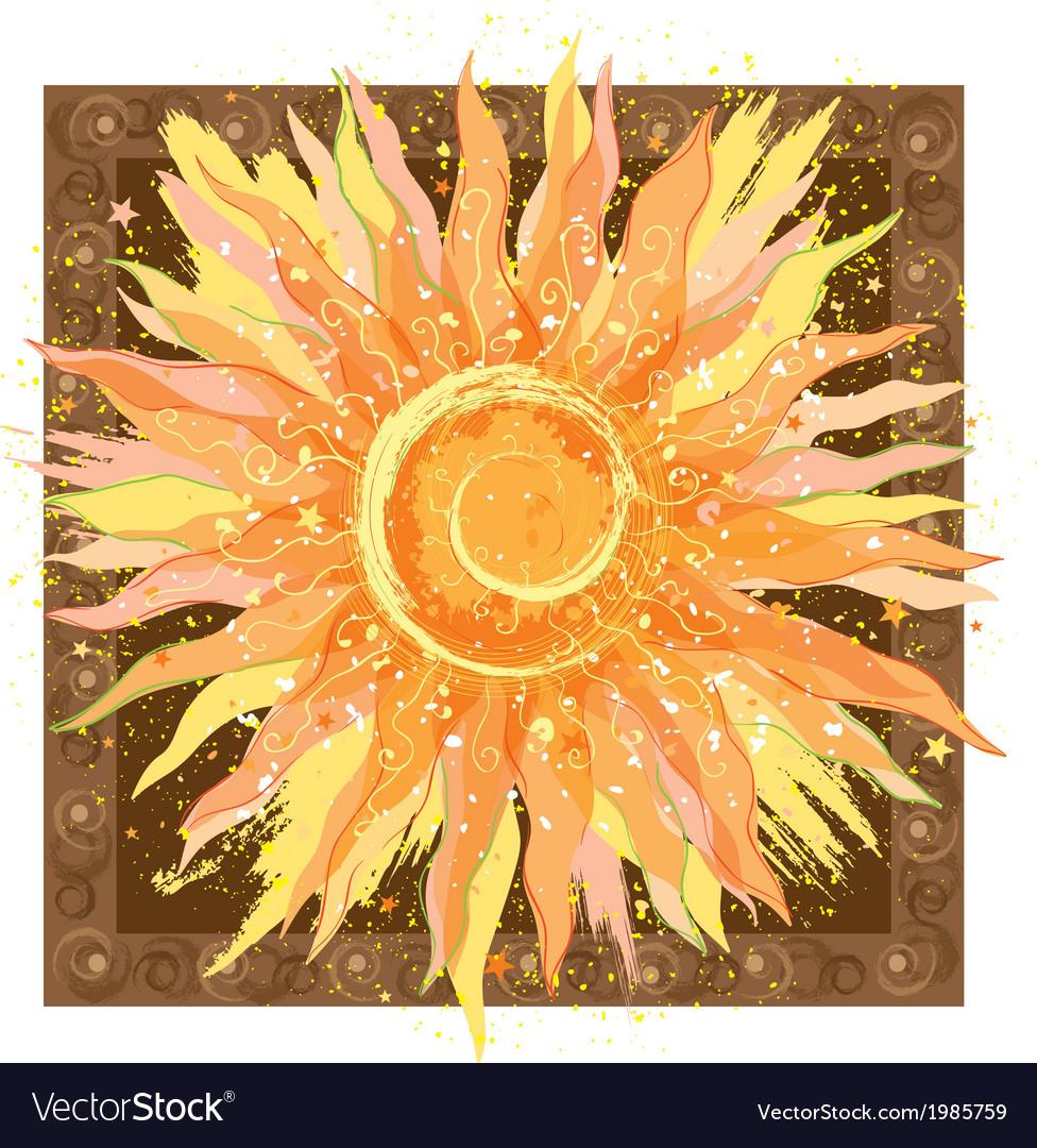 Hand drawn of sun vector | Price: 1 Credit (USD $1)