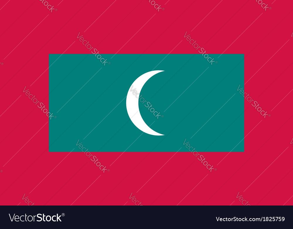 Maldives flag vector | Price: 1 Credit (USD $1)