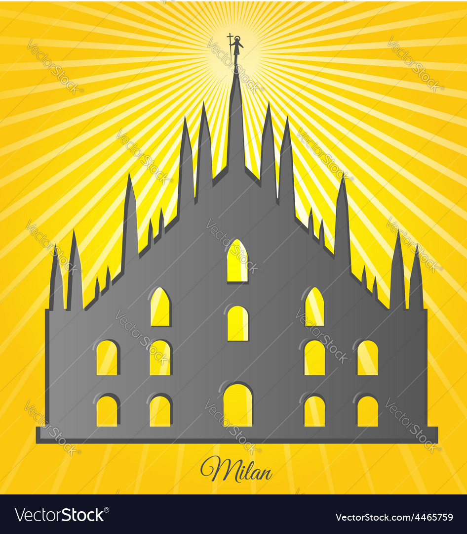 Milan cathedral design vector | Price: 1 Credit (USD $1)