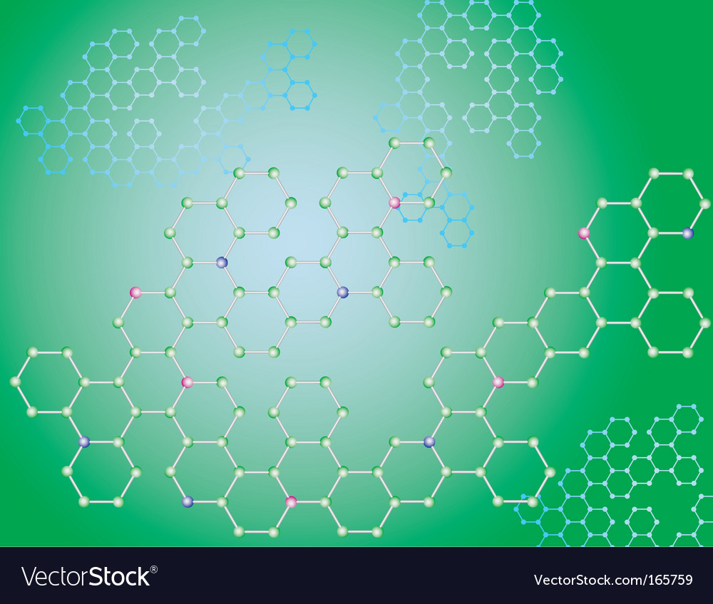 Molecule background vector | Price: 1 Credit (USD $1)