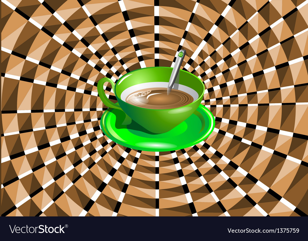 Optical with a green cup vector | Price: 1 Credit (USD $1)