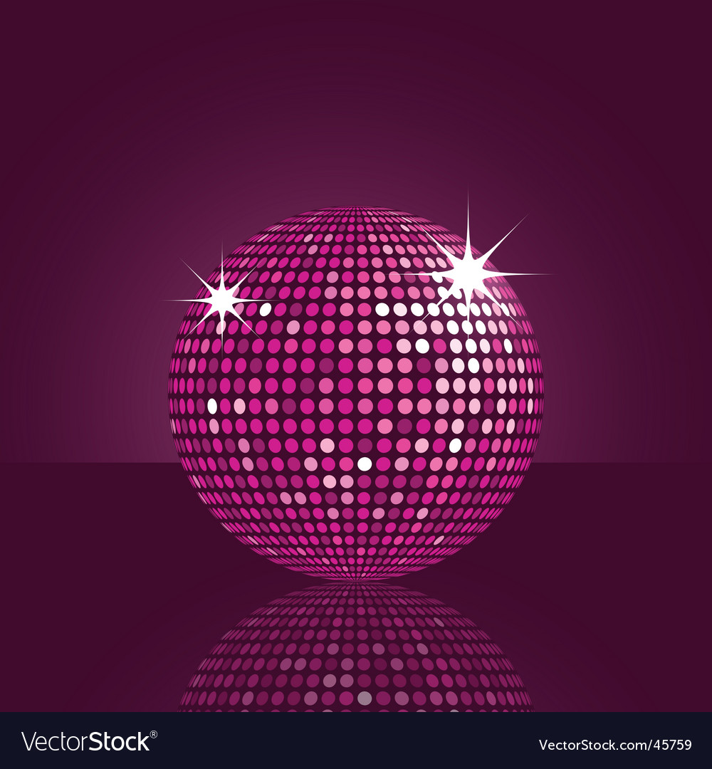 Purple disco ball vector | Price: 1 Credit (USD $1)