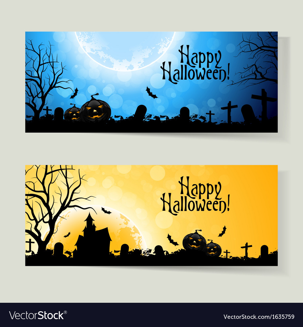 Set of halloween banners vector | Price: 1 Credit (USD $1)