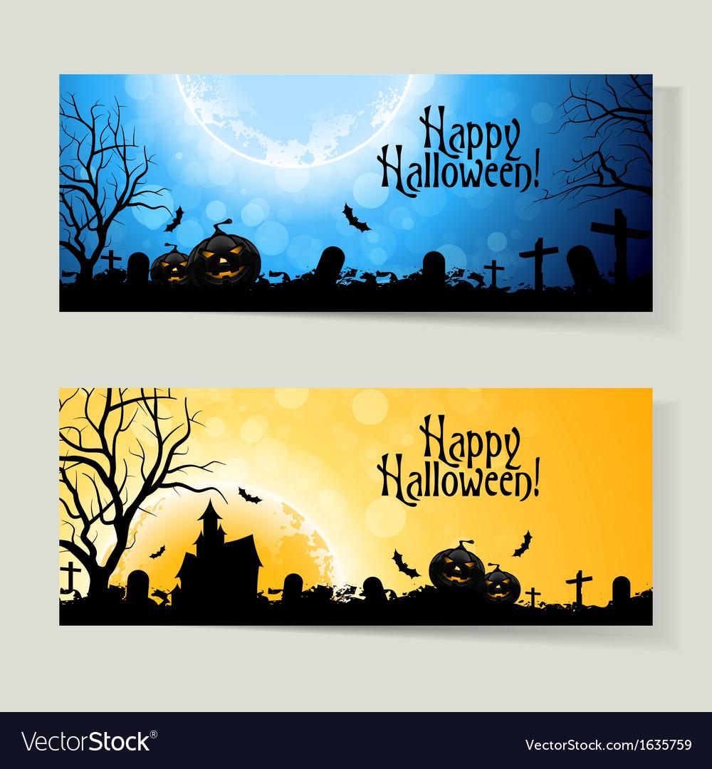 Set of halloween banners vector   Price: 1 Credit (USD $1)