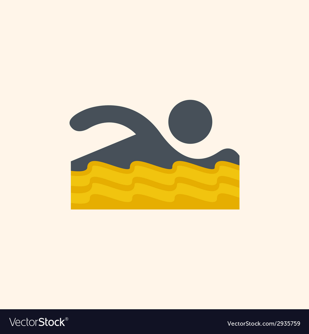 Swimmer travel flat icon vector | Price: 1 Credit (USD $1)