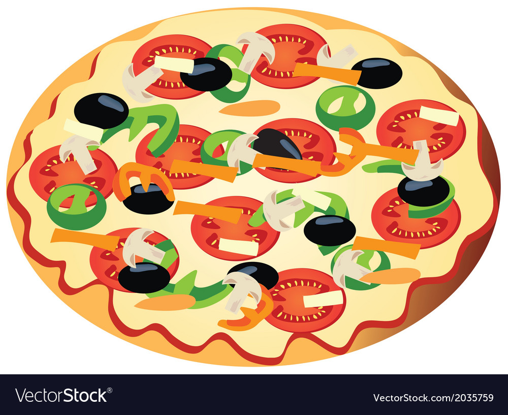 Veggi pizza vector | Price: 1 Credit (USD $1)
