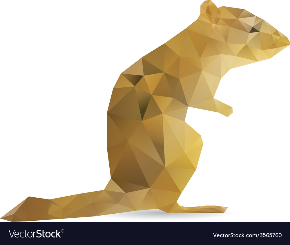 Abstract squirrel vector | Price: 1 Credit (USD $1)