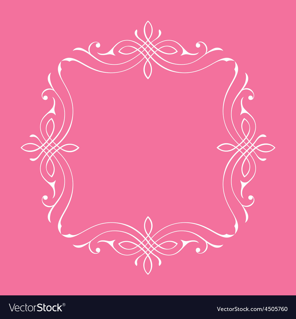 Calligraphic frame and page decoration bord vector | Price: 1 Credit (USD $1)