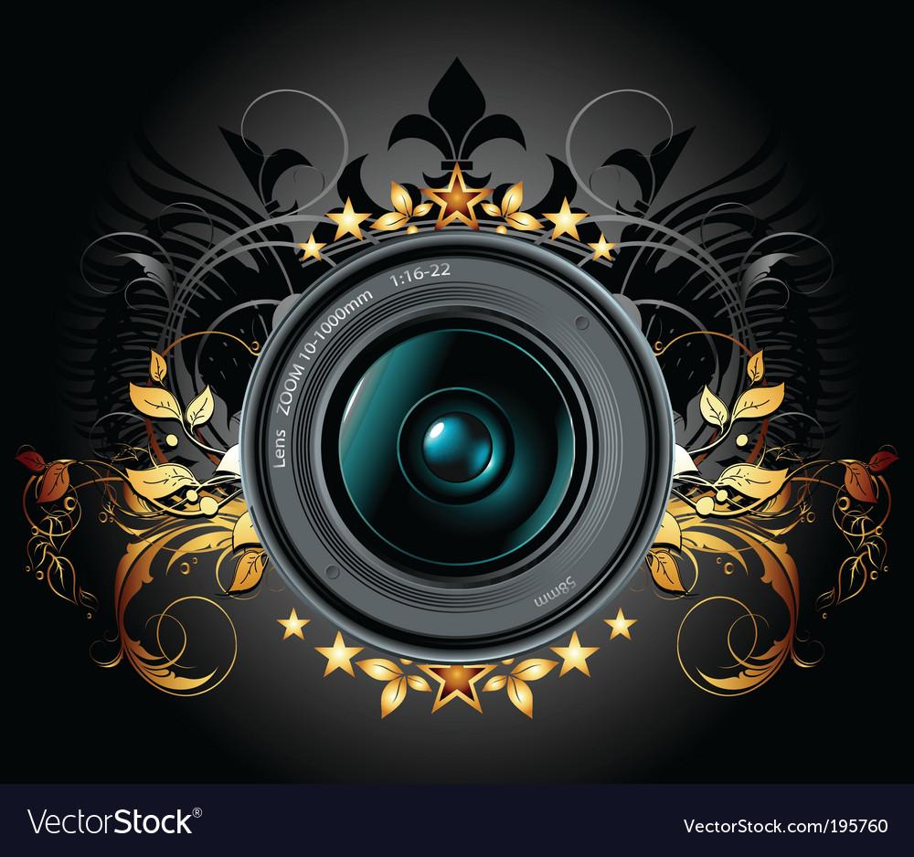Camera lens vector | Price: 1 Credit (USD $1)