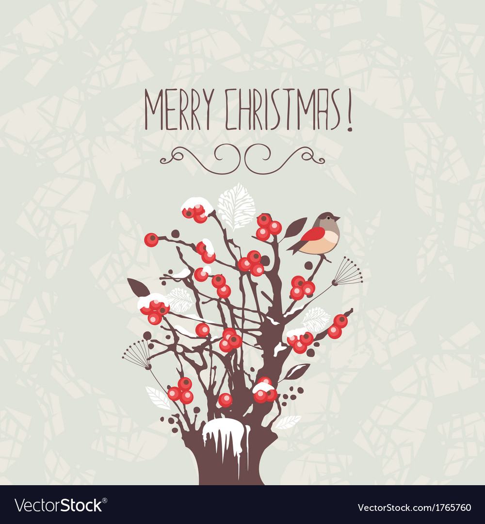 Christmas winter berries shrub vector | Price: 1 Credit (USD $1)