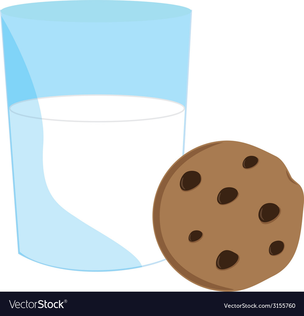 Cookie and milk vector | Price: 1 Credit (USD $1)