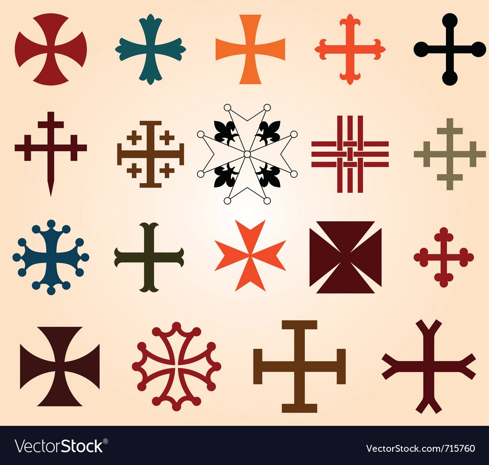 Crosses set vector | Price: 1 Credit (USD $1)