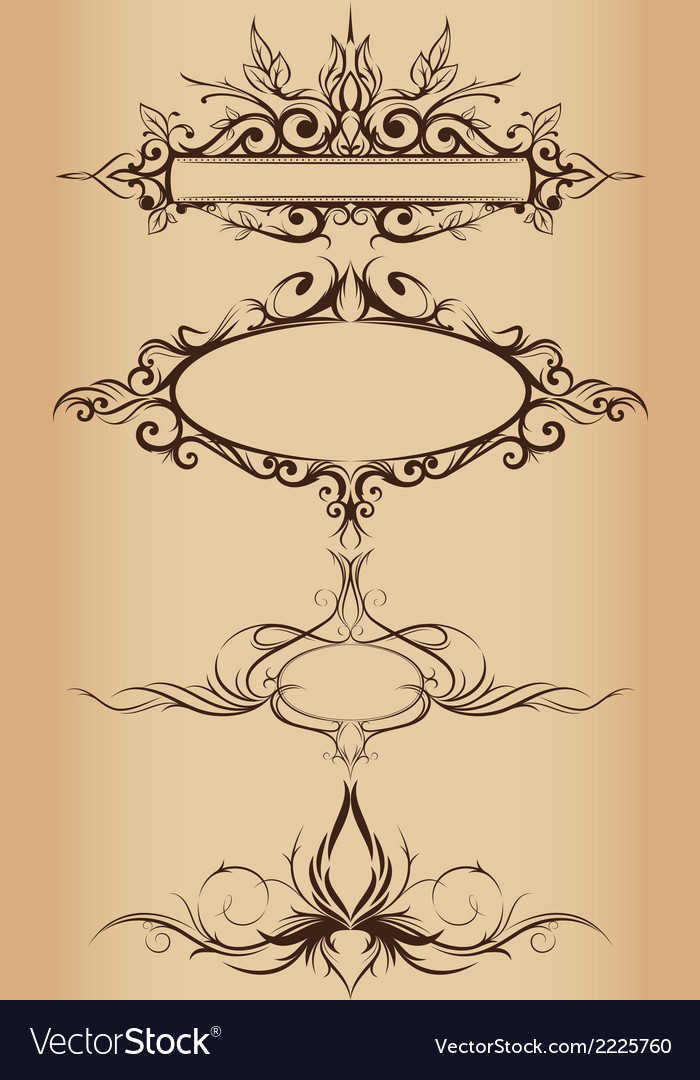 Frame ornaments vector | Price: 1 Credit (USD $1)