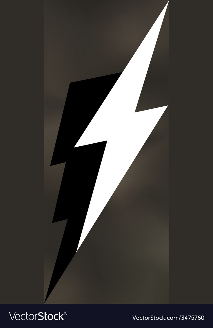 Lightning bolt icon mesh vector | Price: 1 Credit (USD $1)