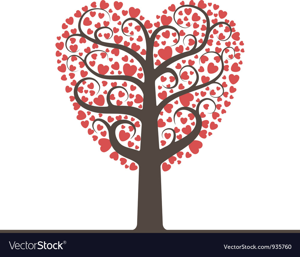 Love tree with space for text vector | Price: 1 Credit (USD $1)
