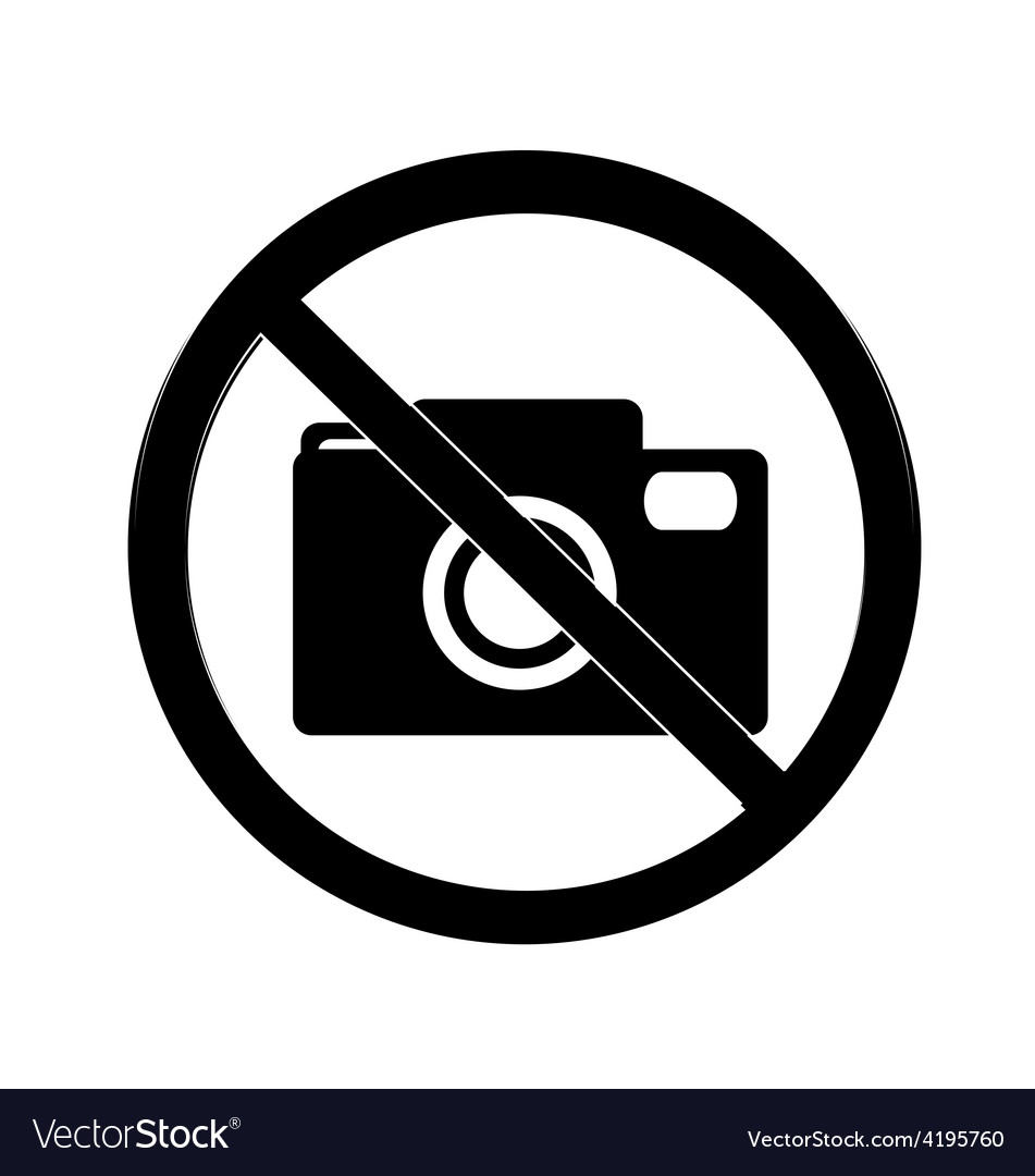 No photography sign vector | Price: 1 Credit (USD $1)