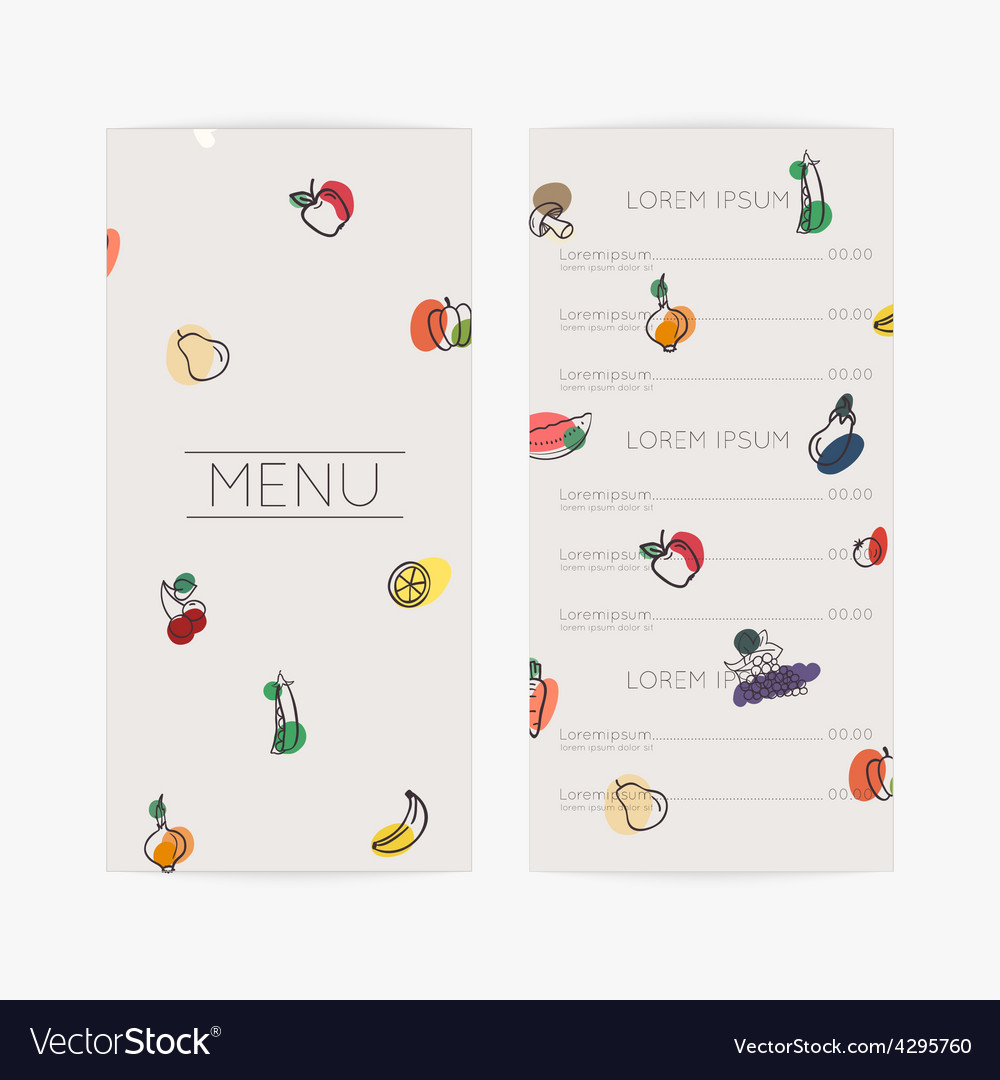 Restaurant menu flat design vector | Price: 1 Credit (USD $1)