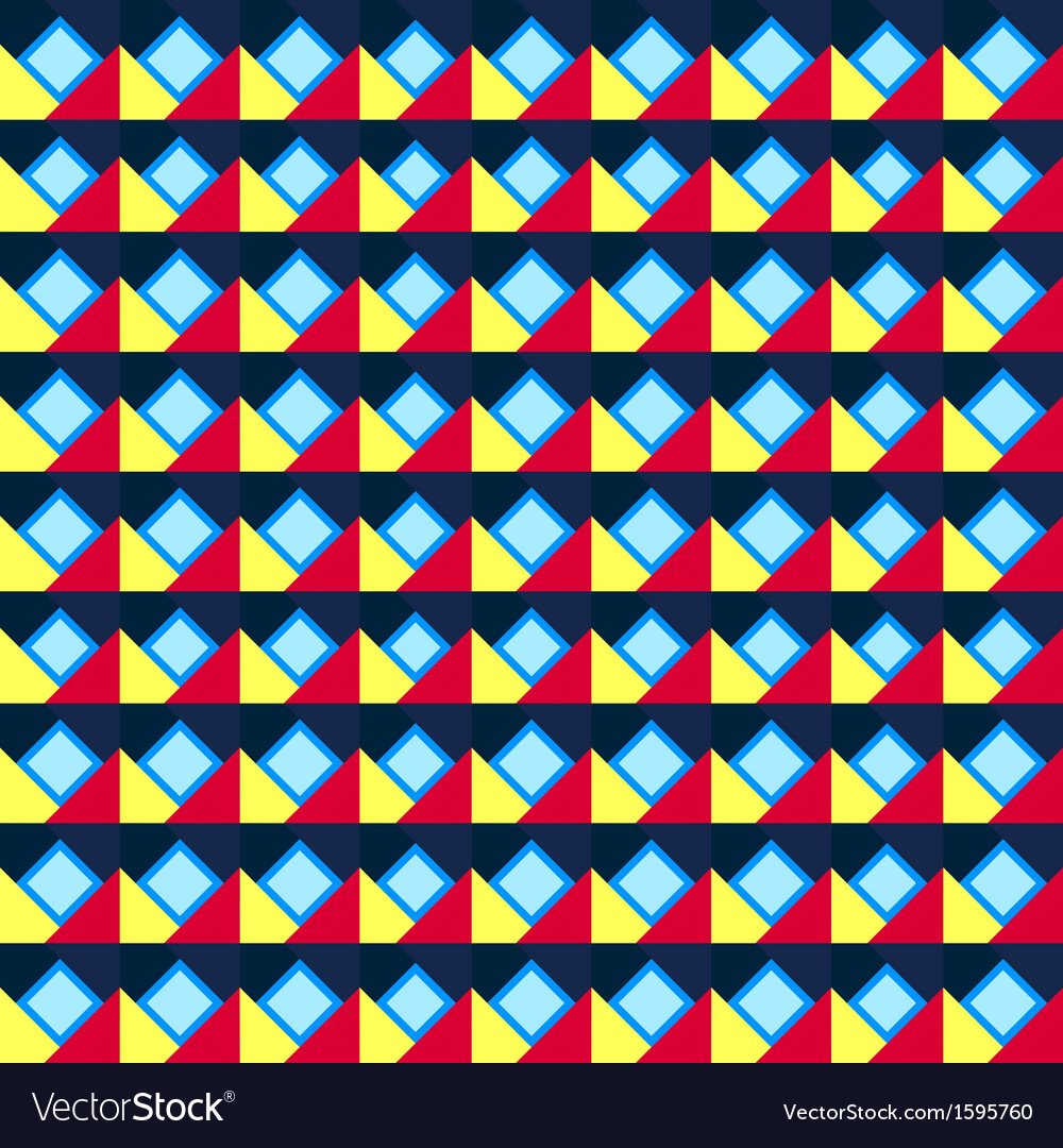 Seamless geometric color pattern vector | Price: 1 Credit (USD $1)