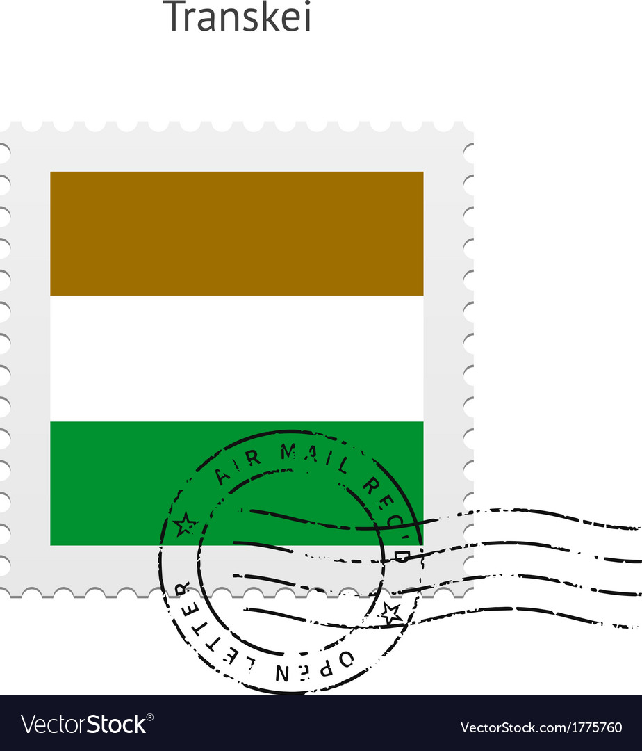 Transkei flag postage stamp vector | Price: 1 Credit (USD $1)
