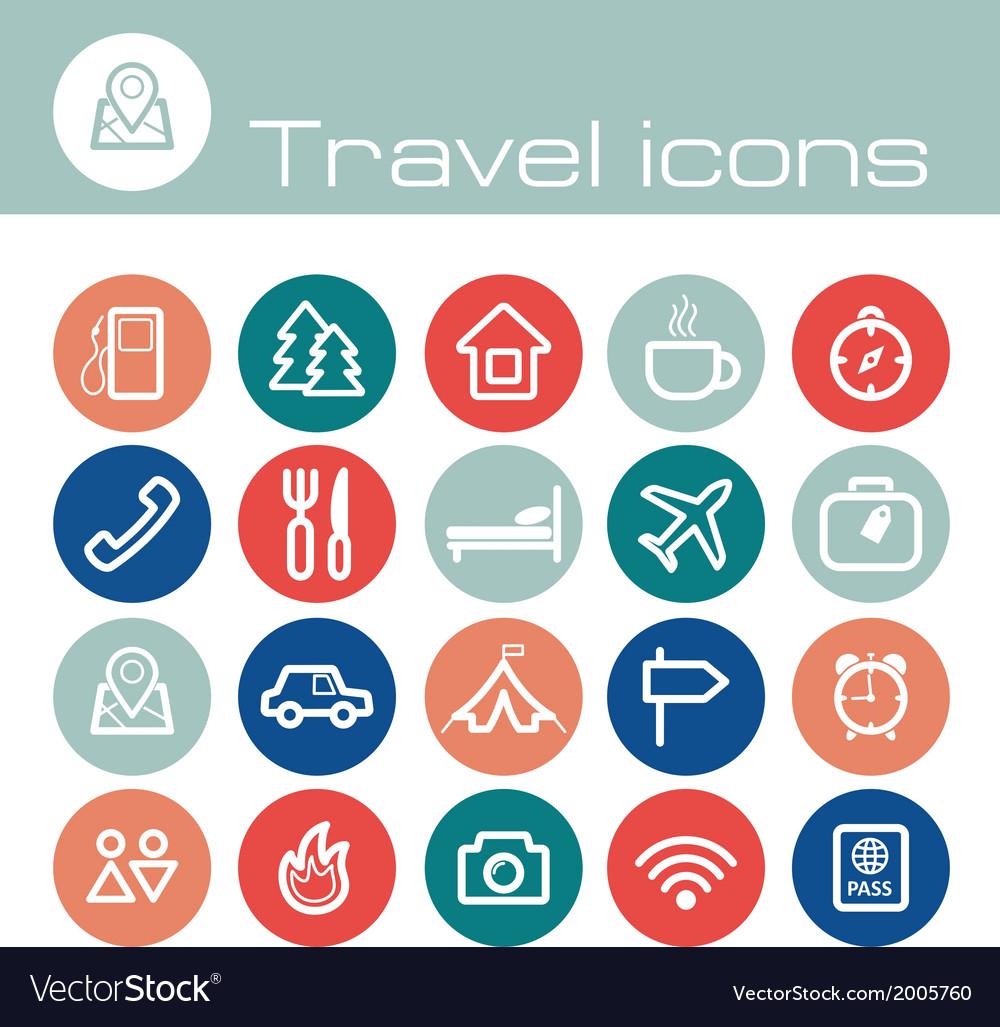 Travel icons set vector   Price: 1 Credit (USD $1)