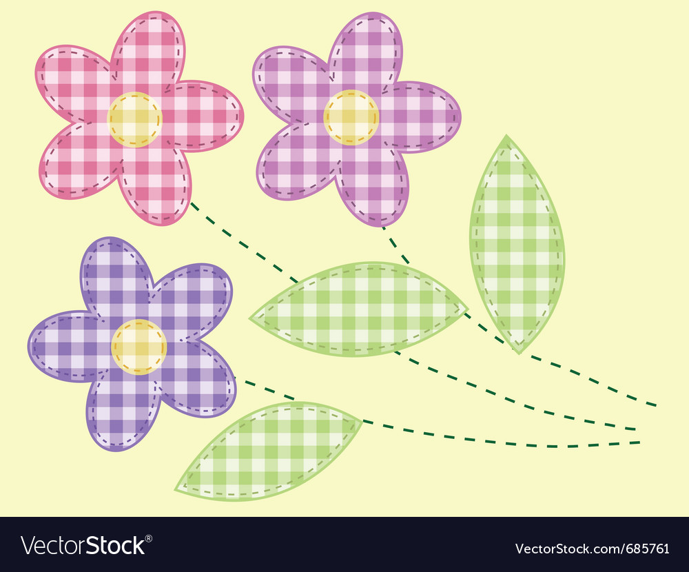 Applique flowers vector | Price: 1 Credit (USD $1)