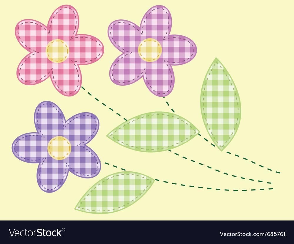 Applique flowers vector | Price: 1 Credit (USD $1)