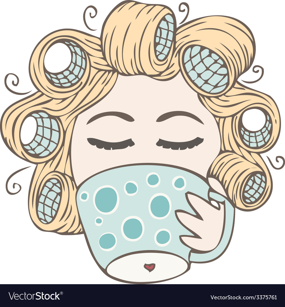 Coffee girl vector | Price: 1 Credit (USD $1)