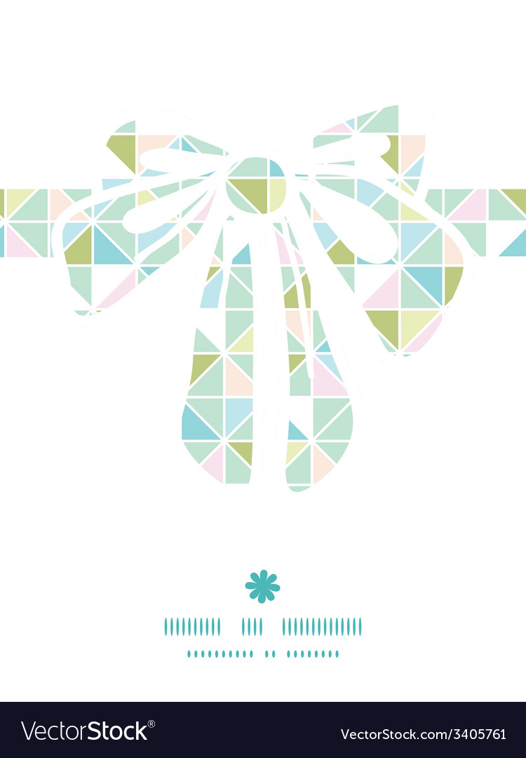 Colorful pastel triangle texture gift bow vector | Price: 1 Credit (USD $1)