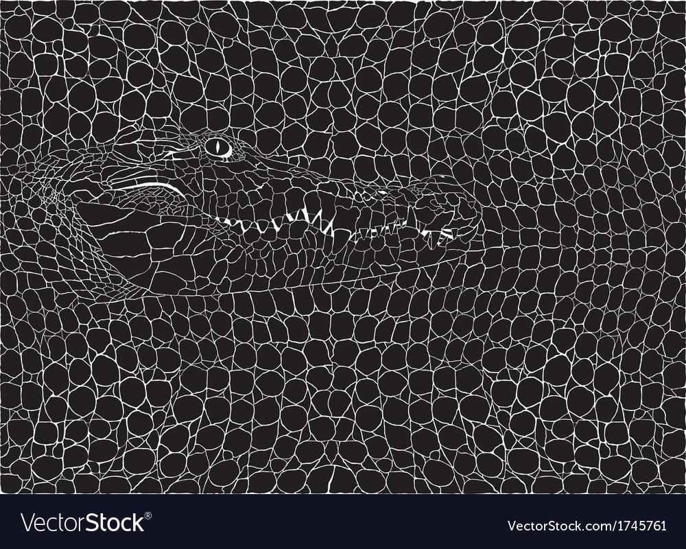 Crocodile pattern background vector | Price: 1 Credit (USD $1)
