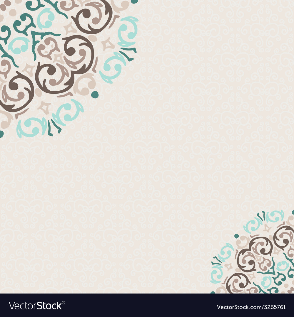 Damask ornamental corner frame with a place for vector   Price: 1 Credit (USD $1)