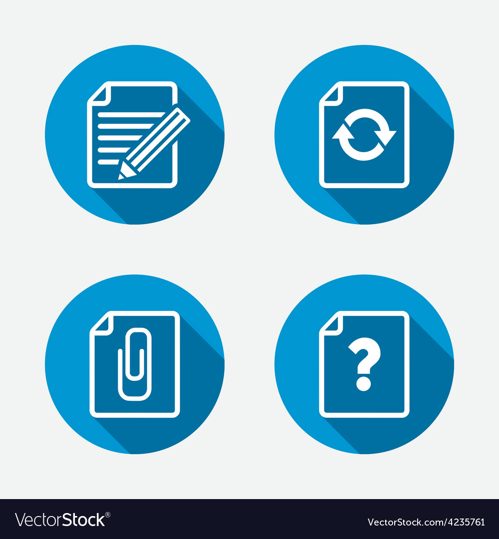 File edit icons question help signs vector | Price: 1 Credit (USD $1)