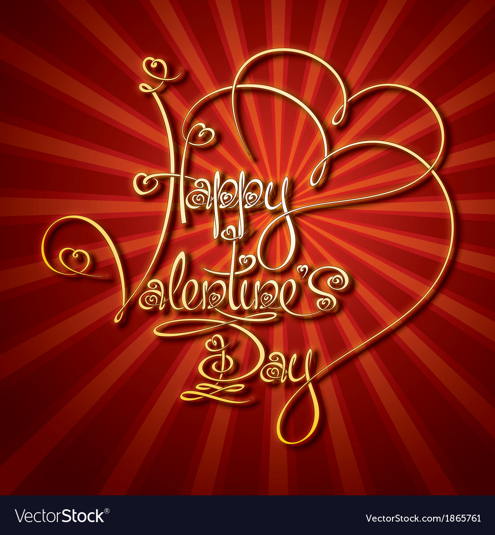 Glamorous gold happy valentines day vector   Price: 1 Credit (USD $1)