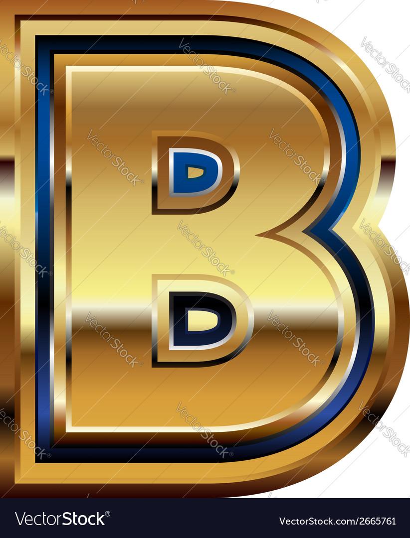 Golden font letter b vector | Price: 1 Credit (USD $1)