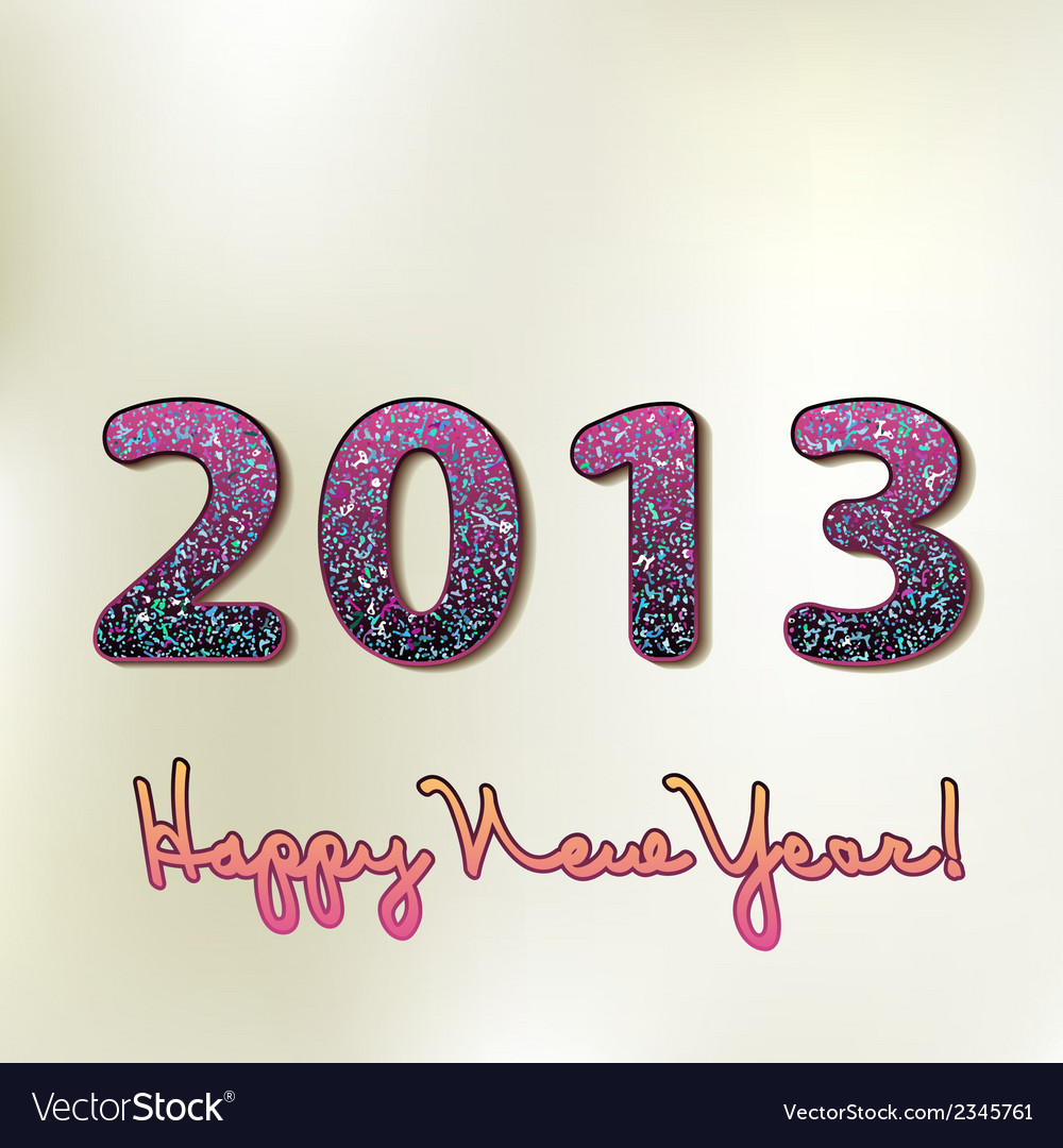 Happy new year 2013 colorful design  eps8 vector | Price: 1 Credit (USD $1)