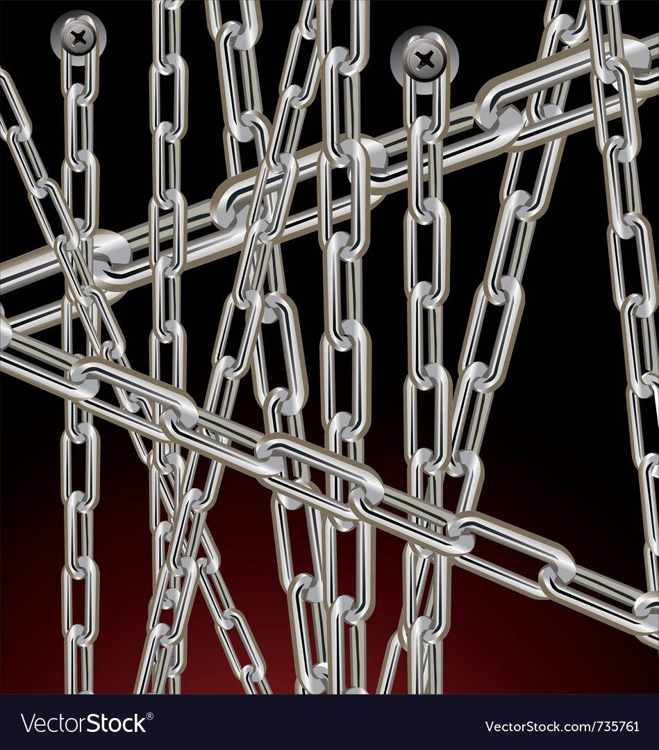 Metal background with chain vector | Price: 1 Credit (USD $1)