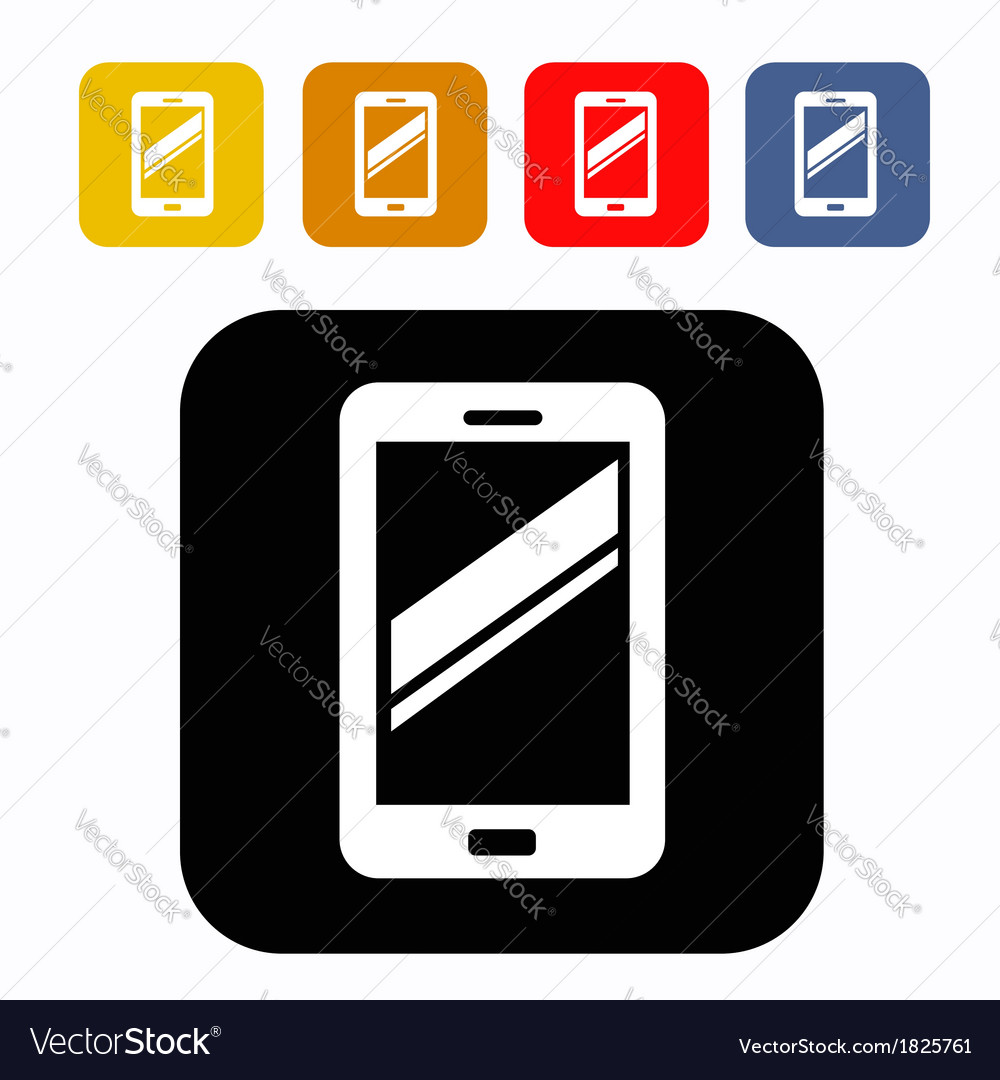 Mobile icon vector | Price: 1 Credit (USD $1)