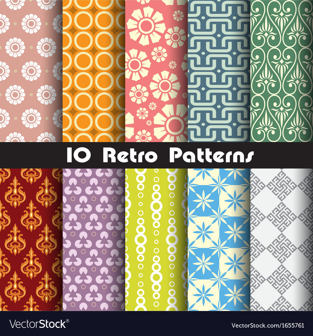 Retro pattern unit collection 1 vector | Price: 1 Credit (USD $1)