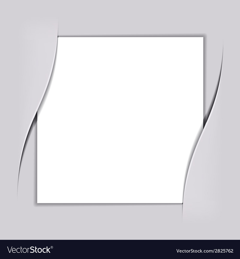 Blank white square paper vector | Price: 1 Credit (USD $1)