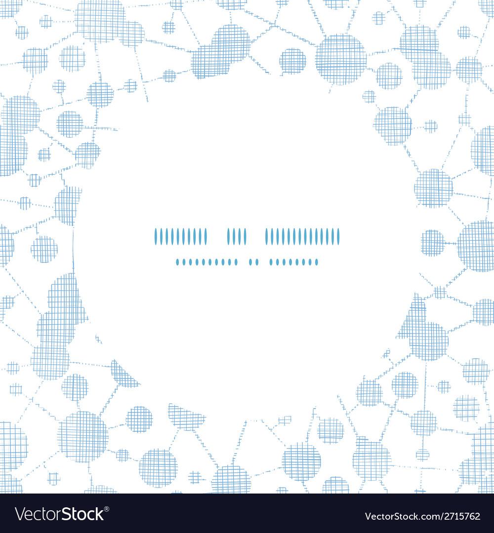 Blue molecules testile texture circle frame vector   Price: 1 Credit (USD $1)