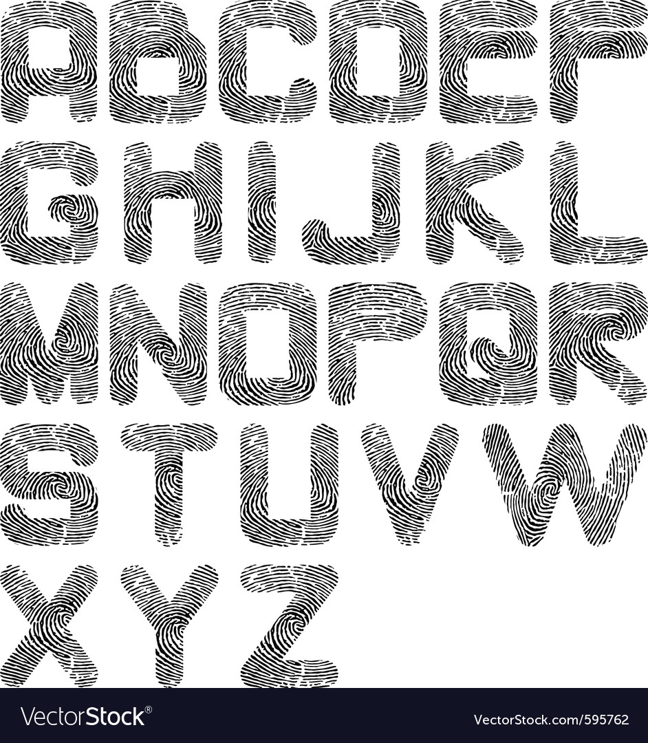 Fingerprint alphabet vector | Price: 1 Credit (USD $1)