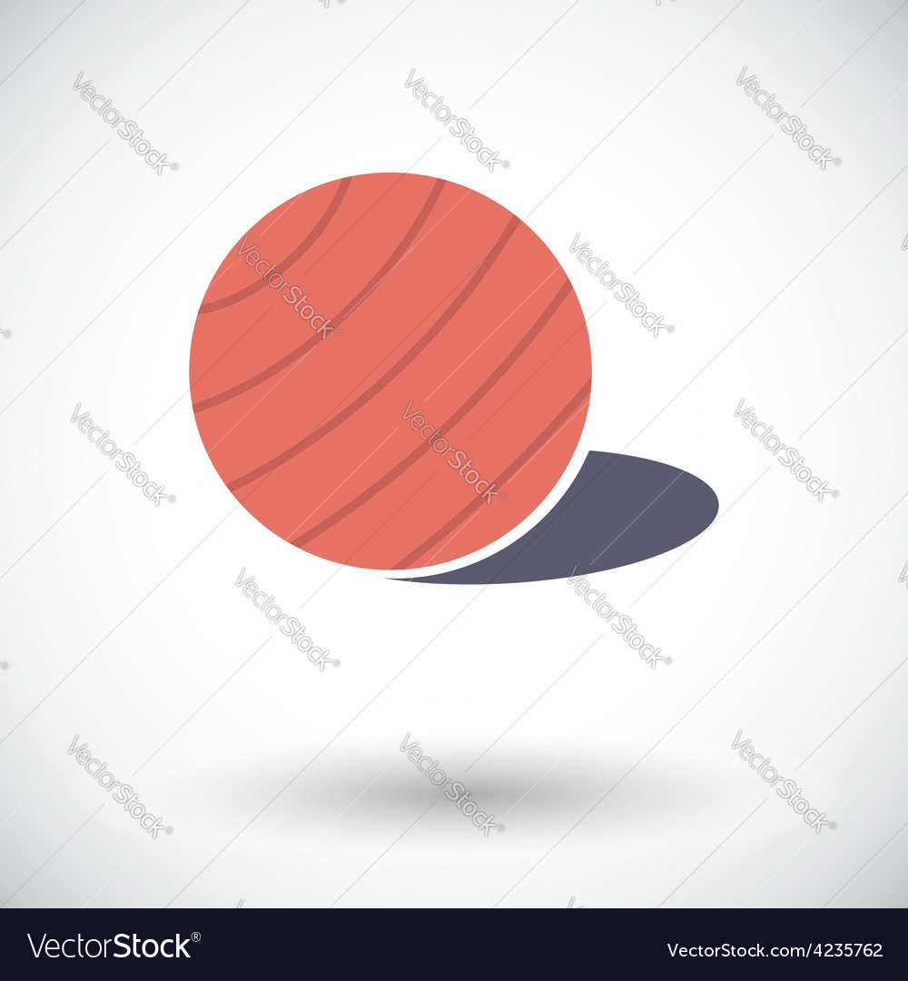 Fittball single icon vector | Price: 1 Credit (USD $1)