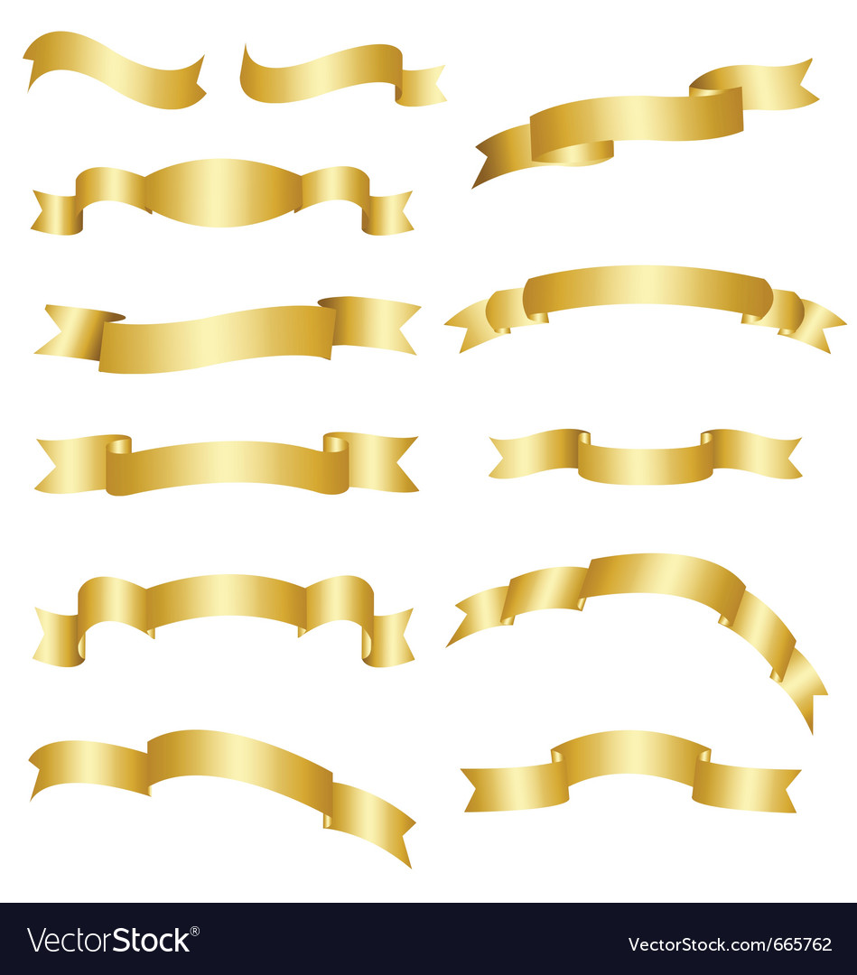 Golden banner set vector | Price: 1 Credit (USD $1)
