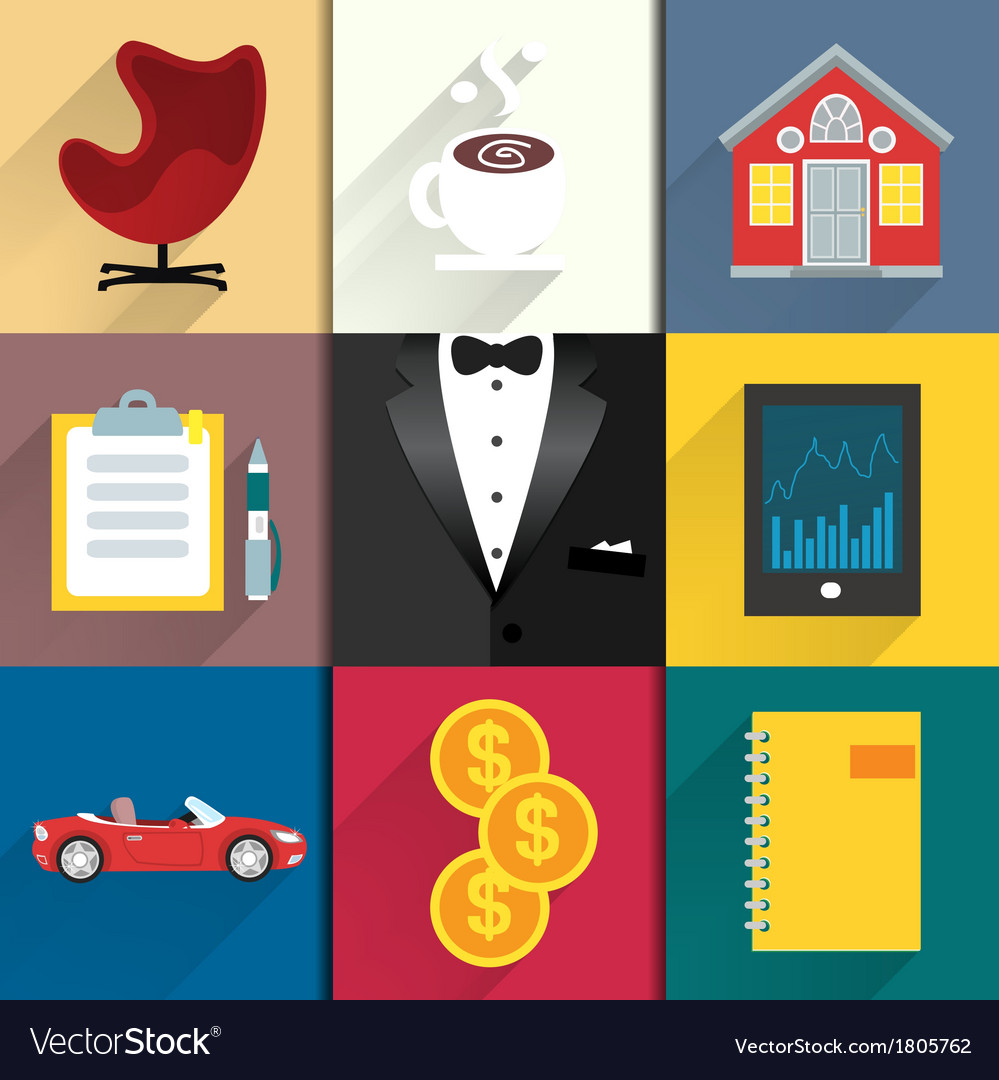 Icons set for luxery life with tuxedo vector | Price: 1 Credit (USD $1)