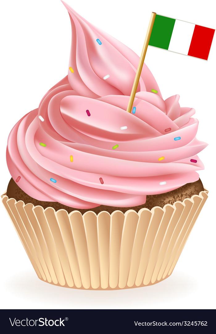 Italian cupcake vector | Price: 1 Credit (USD $1)