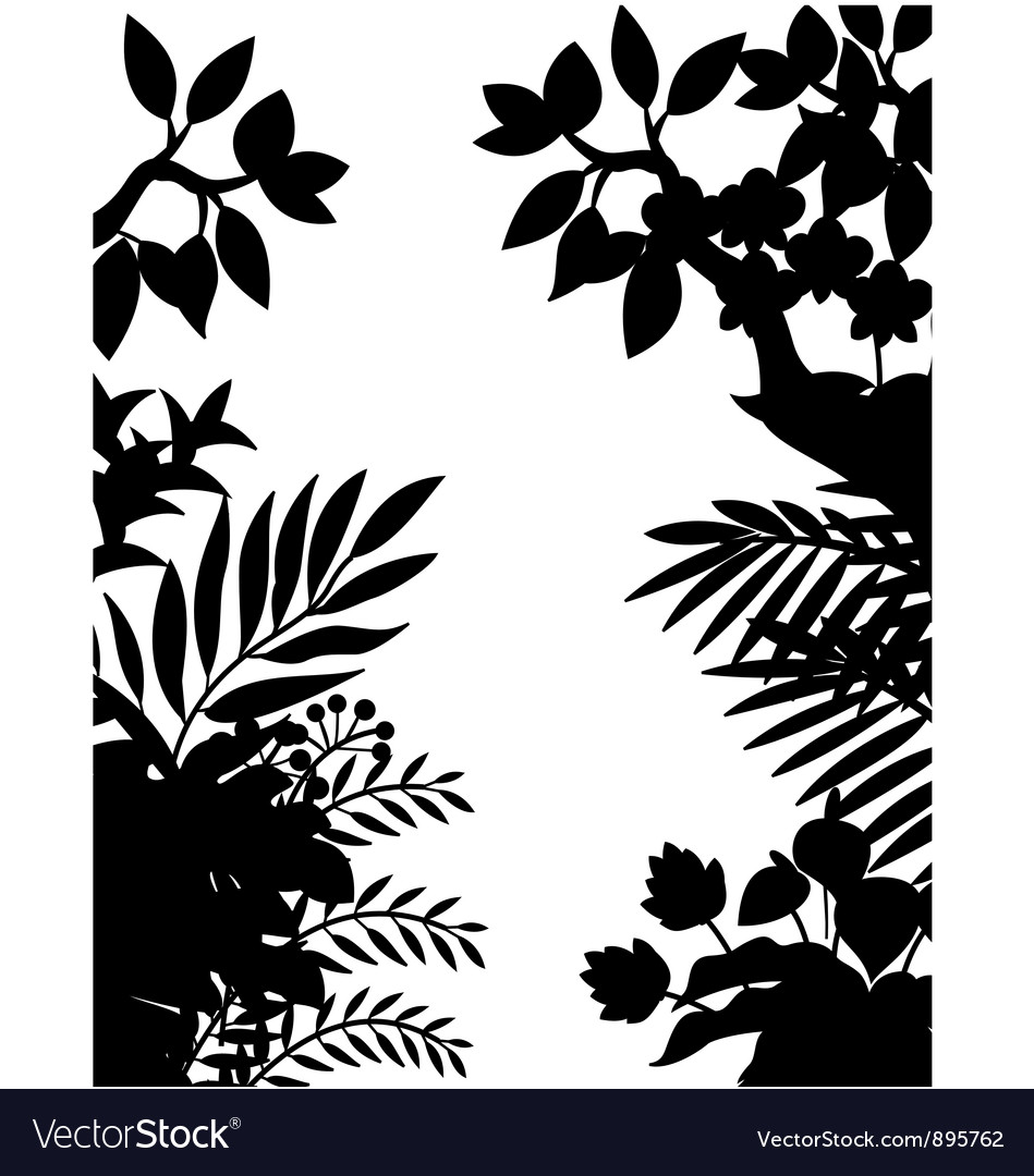 Nature silhouette background vector | Price: 1 Credit (USD $1)