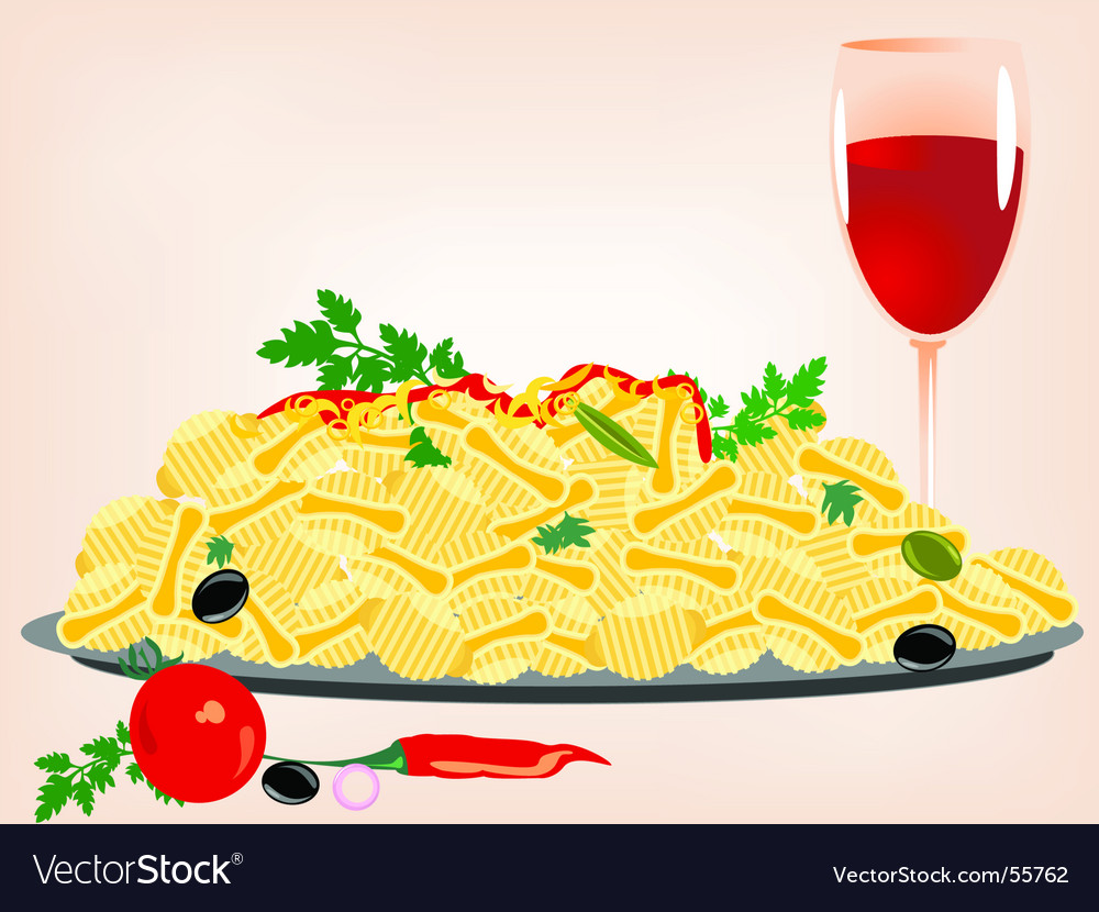 Pasta meal vector | Price: 1 Credit (USD $1)