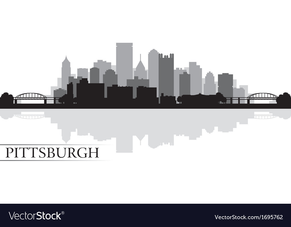 Pittsburgh city skyline silhouette background vector | Price: 1 Credit (USD $1)