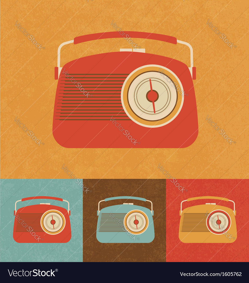 Retro icons - old radio vector | Price: 1 Credit (USD $1)
