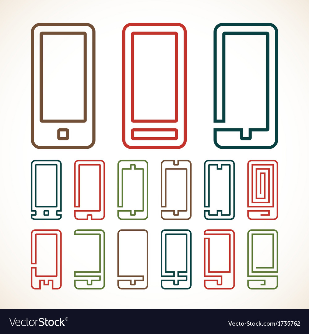 Smart phone abstract icons vector | Price: 1 Credit (USD $1)