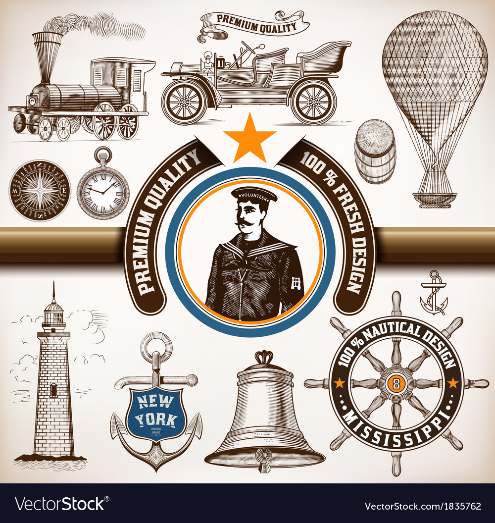Transport and nautical set vector | Price: 1 Credit (USD $1)